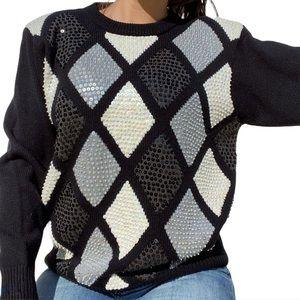 Alfred Dunner Vintage Embellished Sweater MED